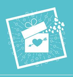 icon valentine day vector image