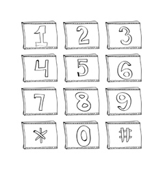 phone number vector image