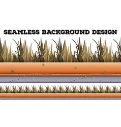 Seamless background with dry grass vector image vector image