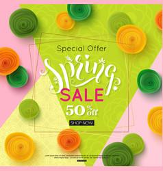 spring sale banner design special offer for vector image vector image
