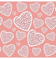 Valentines day or wedding hearts seamless pattern vector