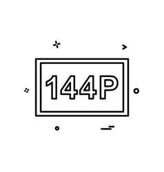 144p video frame icon design vector image