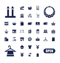 37 store icons vector