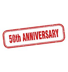 50th anniversary stamp 50th anniversary square vector