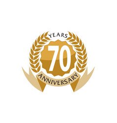 70 years ribbon anniversary vector
