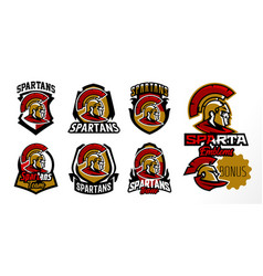 a colorful collection of emblems badges logos vector image