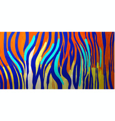 abstract graphic tiger skin texture in bright vector image
