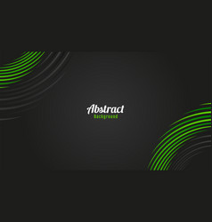 Abstract green and grey circles lines background vector