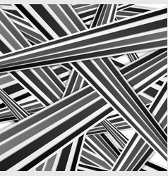 Abstract tech black and white striped pattern vector