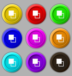 Active color toolbar icon sign symbol on nine vector