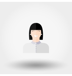 Administrator manager girl icon vector