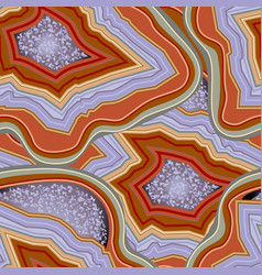 agate seamless pattern precious stone gemstone vector image