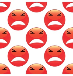 Angry emoticon pattern vector image