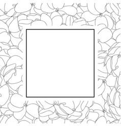 Arabian jasmine outline banner card vector