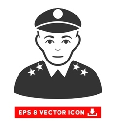 Army General EPS Icon vector