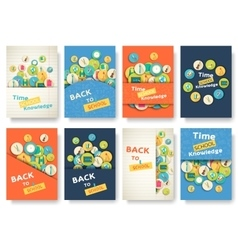 Back to school information pages set Education vector image