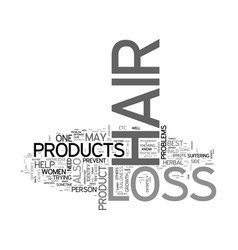 Best hair loss products text word cloud concept vector