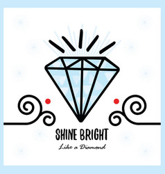 big blue shine bright like a diamond shiny vector image
