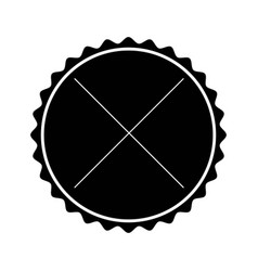 Black label frame decoration sign icon vector