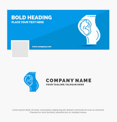 blue business logo template for pregnancy vector image