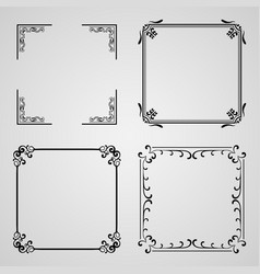 caligraphic frames vector image