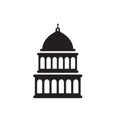 Capitol building icon design template isolated vector
