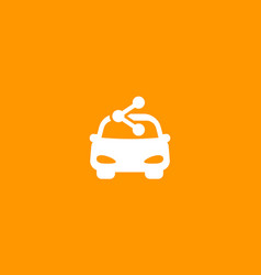carsharing service icon for web and apps vector image
