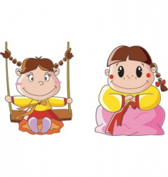 Children girl vector