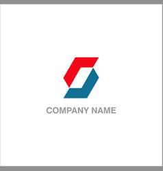 circle shape colored logo vector image