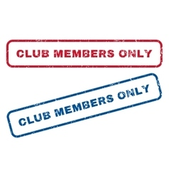 Club Members Only Rubber Stamps vector
