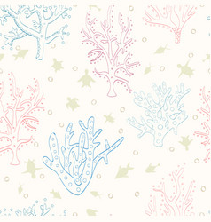 coral and turquoise animals of the ocean vector image