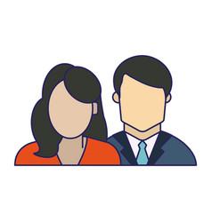Couple avatar faceless vector