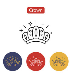 crown icon isolated on white background vector image
