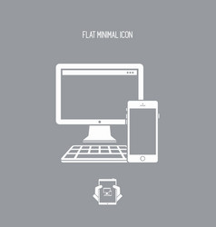 devices series - flat minimal icon vector image