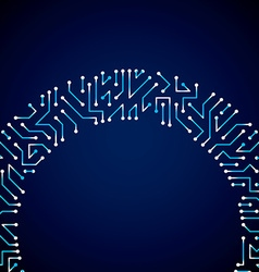 digital technology background with circuit board vector image