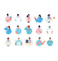 doctor avatars health nurse portrait doctors vector image