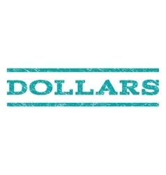 Dollars Watermark Stamp vector image