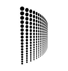 dot line halftone pattern design dotted background vector image