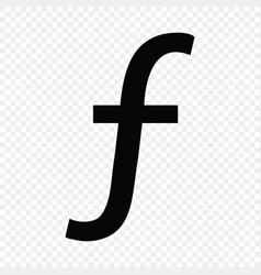 Dutch guilder or florin sign vector