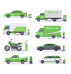 eco cars save weather electricity vehicles vector image