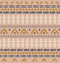 ethnic boho blush pink geometric seamless pattern vector image