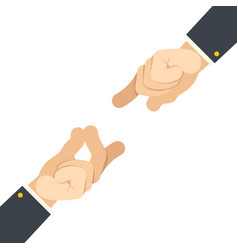 Finger snap hand gesture attract flat design vector