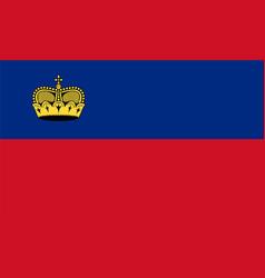 Flag liechtenstein vector