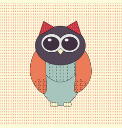 Funny owl vector