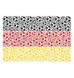 Germany flag collage of football ball icons vector