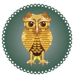 Golden Owl vector image