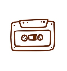Hand Drawn Cassette vector image
