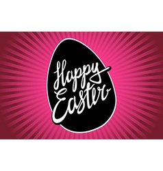 Happy Easter trendy hipster hand-written line vector image