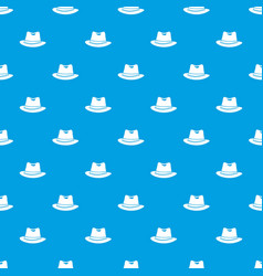 hat pattern seamless blue vector image