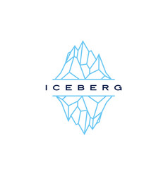 iceberg logo geometric line outline monoline vector image
